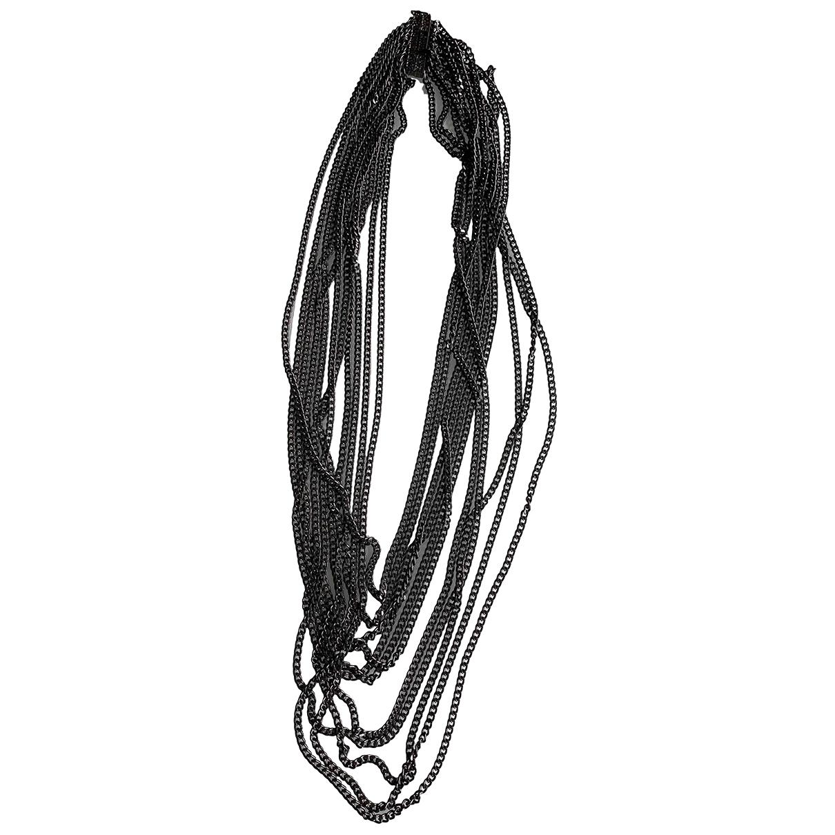- Collier Chaines pour femme en acier - anthracite