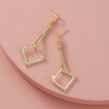 Geometrische Ohrringe mit Strass