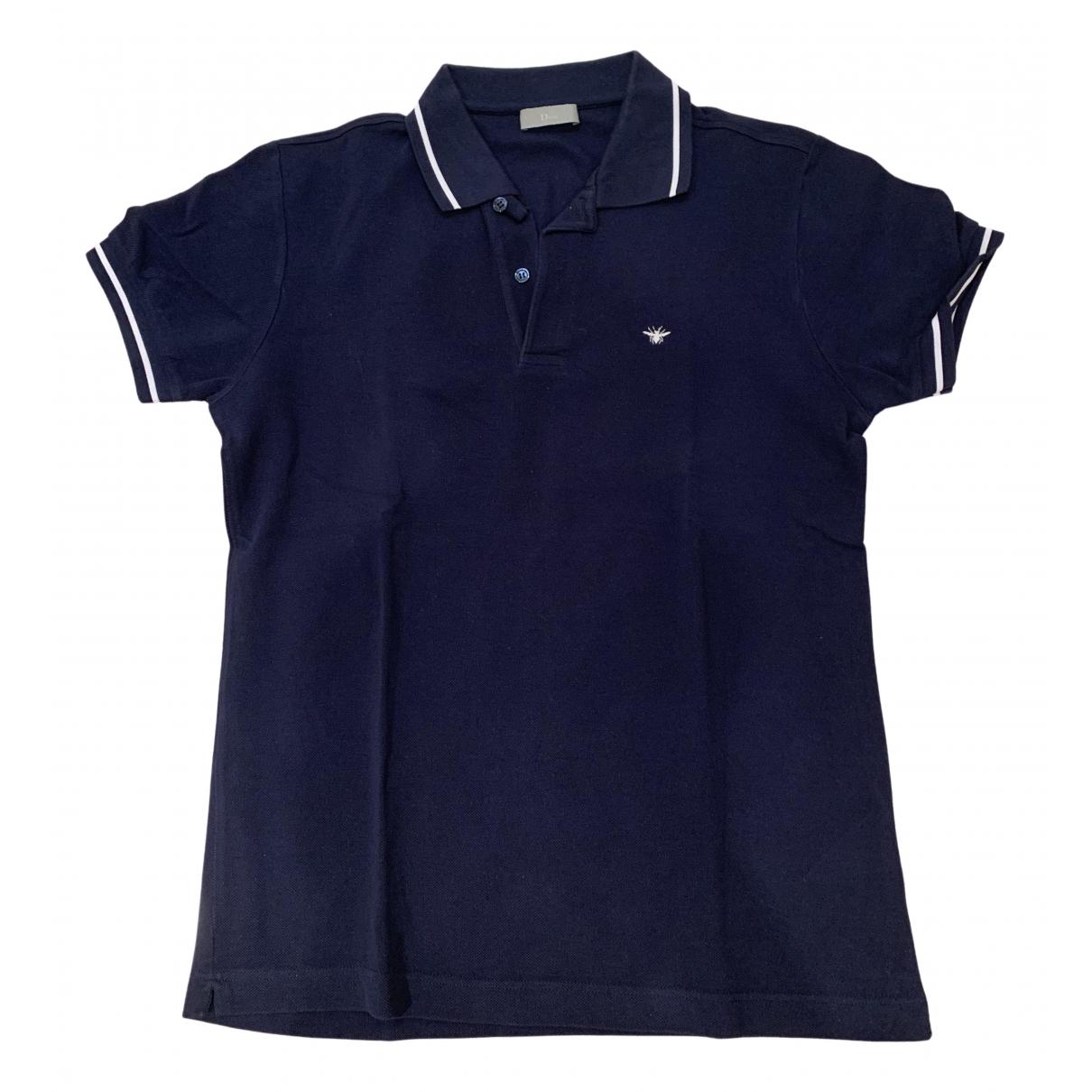 Polo en Algodon Azul Dior Homme