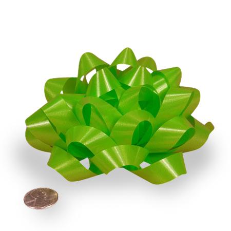 Polyethylene Lime Green Confetti Bow 4