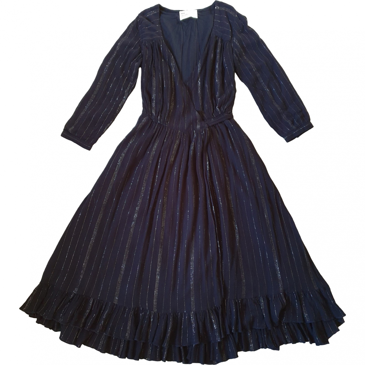 Leon & Harper \N Kleid in  Schwarz Viskose