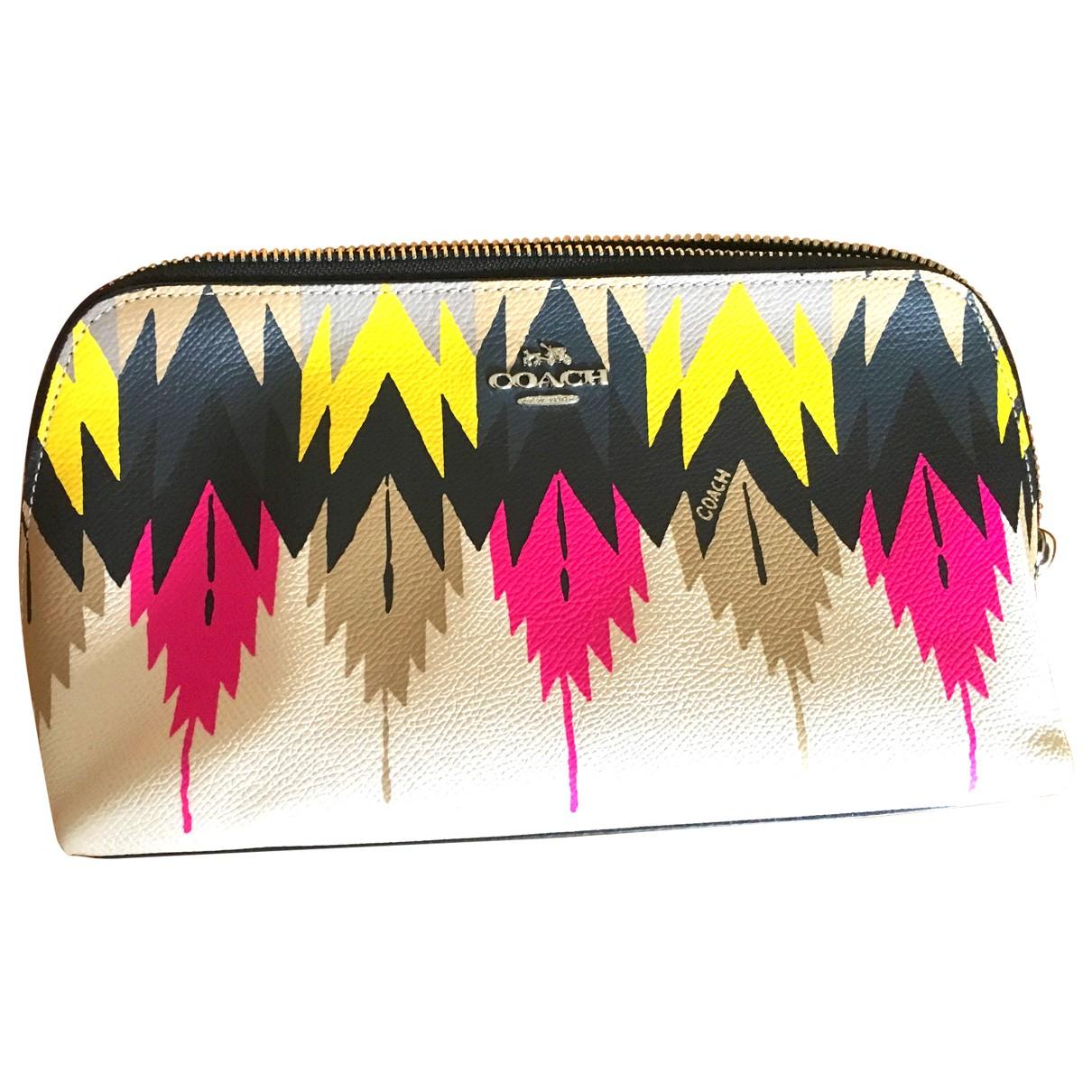 Coach - Sac de voyage   pour femme en cuir - multicolore