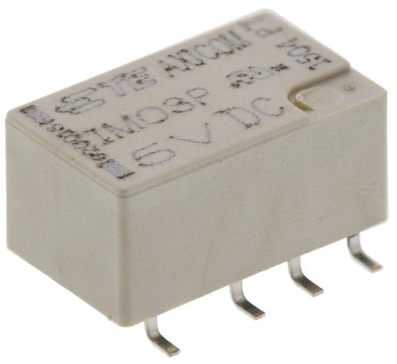 TE Connectivity , 5V dc Coil Non-Latching Relay DPDT, 2A Switching Current PCB Mount, 2 Pole