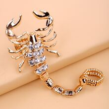Rhinestone Decor Scorpion Design Ring
