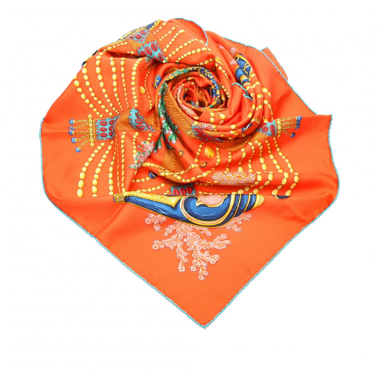 Hermès \N Orange scarf for Women \N