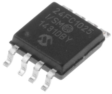Microchip 24FC1025-I/SM, 1Mbit Serial EEPROM Memory, 400ns 8-Pin SOIJ I2C