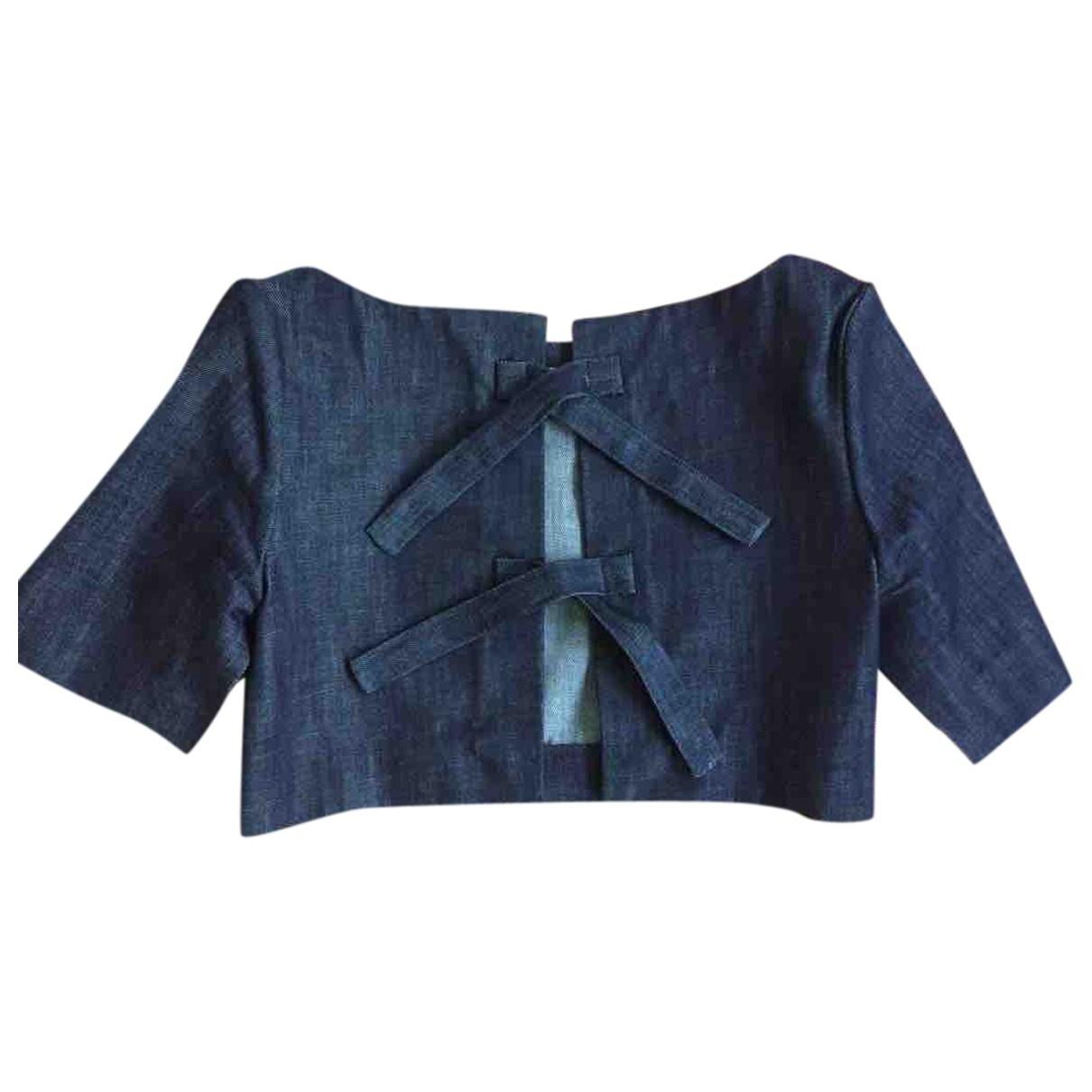 J.w. Anderson - Top   pour femme en coton - bleu