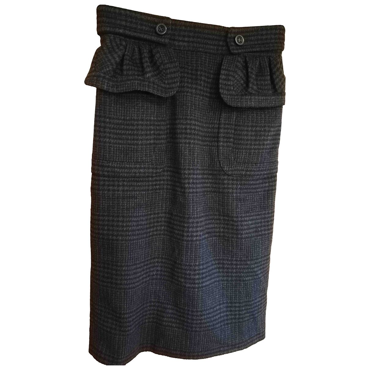 Burberry \N Anthracite Cashmere skirt for Women 40 IT