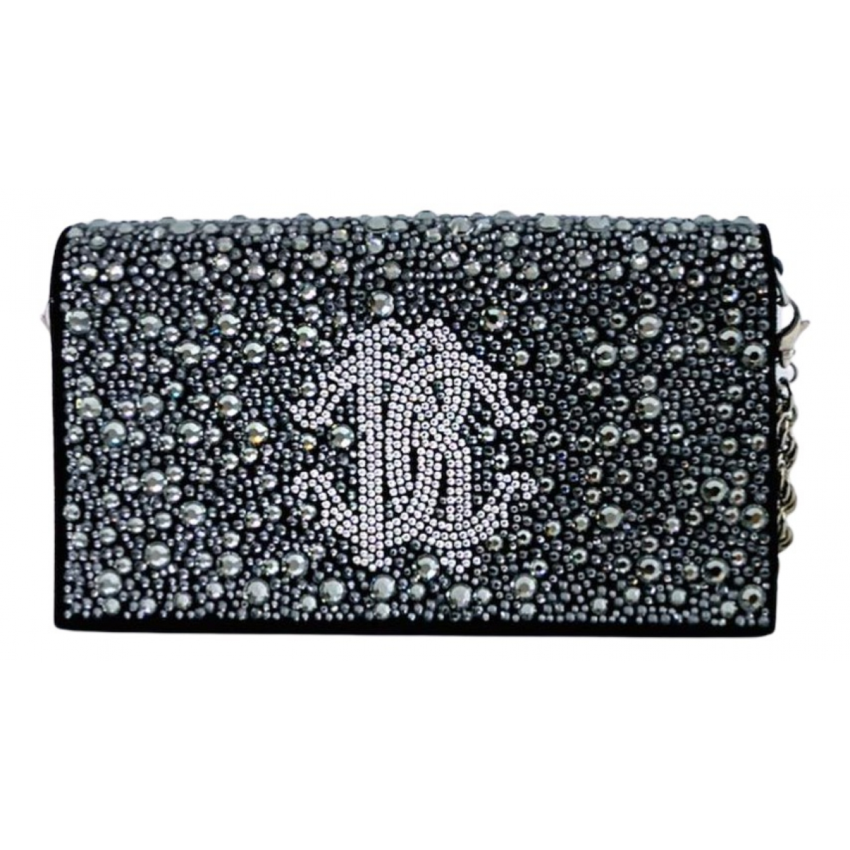 Roberto Cavalli N Silver Leather Clutch bag for Women N