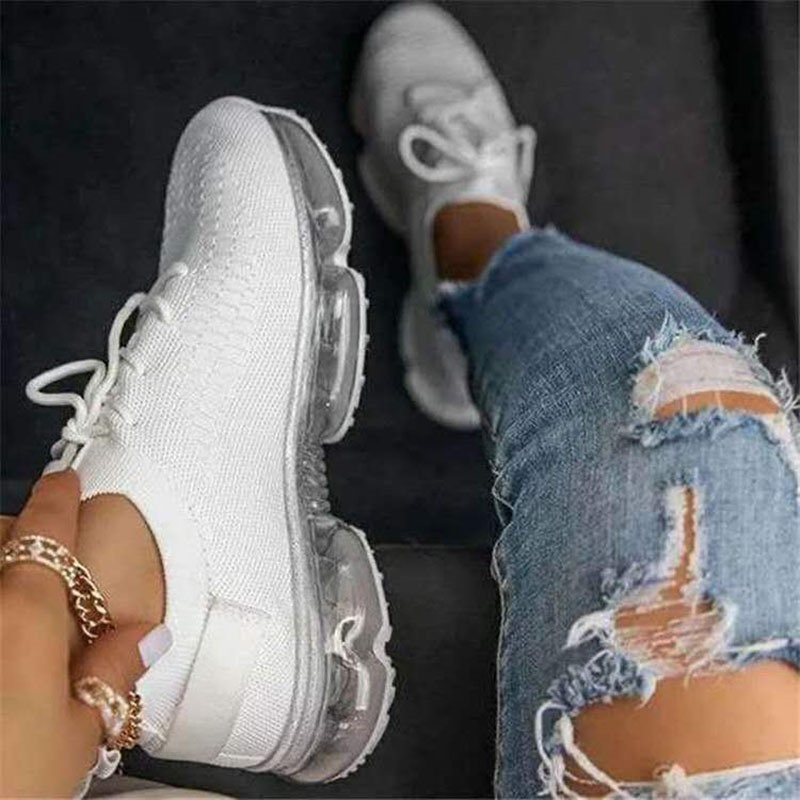 Ericdress Round Toe Elastic Band Patchwork Sneakers
