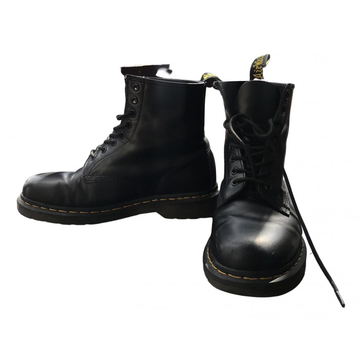 Dr. Martens 1460 Pascal (8 eye) Black Leather Boots for Women 42 EU