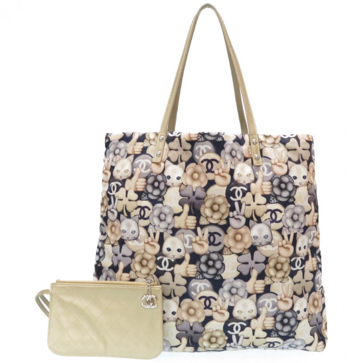 Chanel \N Handtasche in  Bunt Leinen