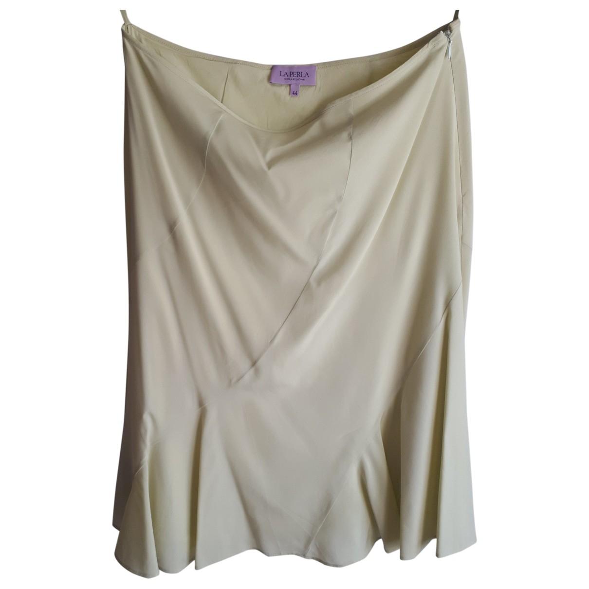 La Perla - Jupe   pour femme en soie - jaune