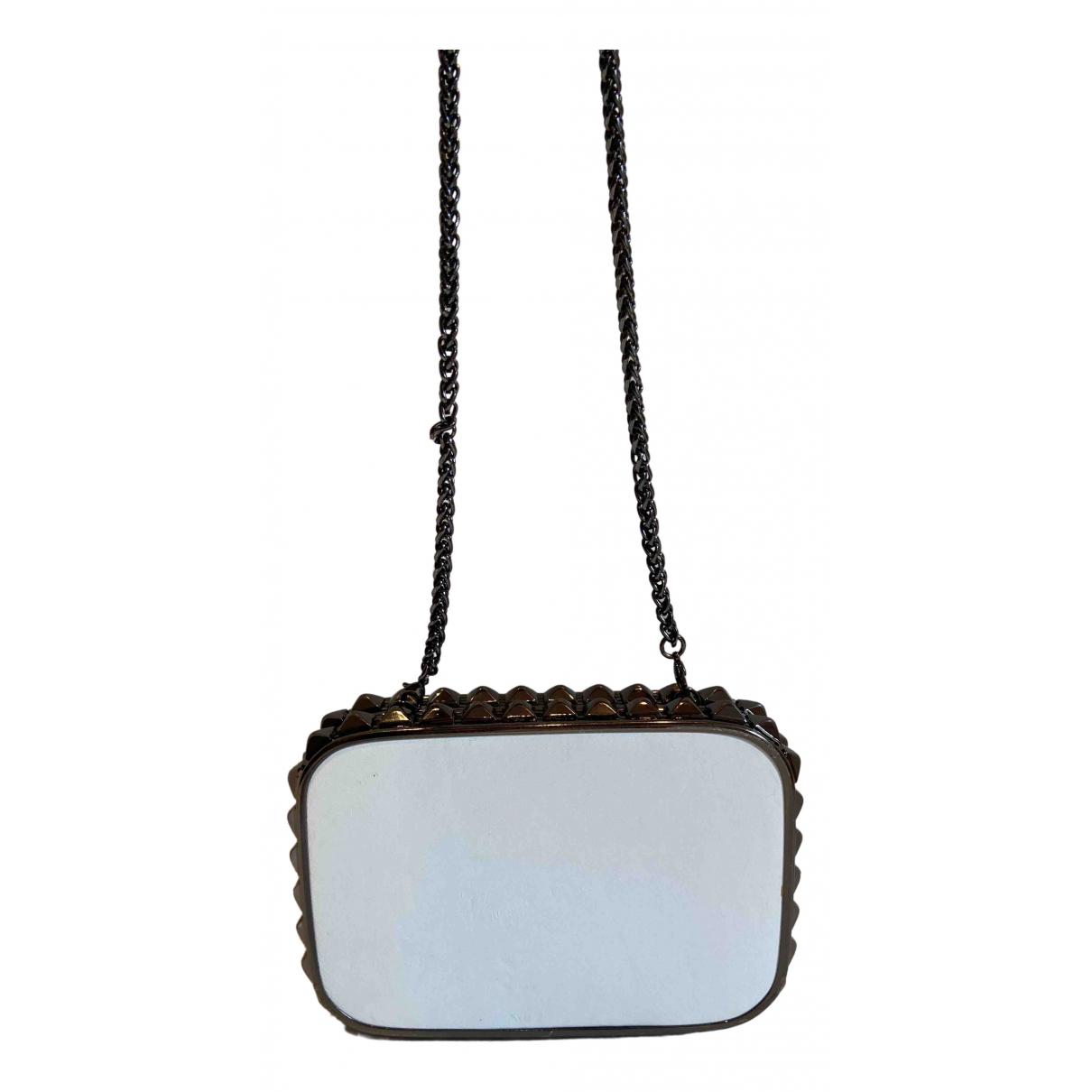 Barneys New York \N White Leather Clutch bag for Women \N