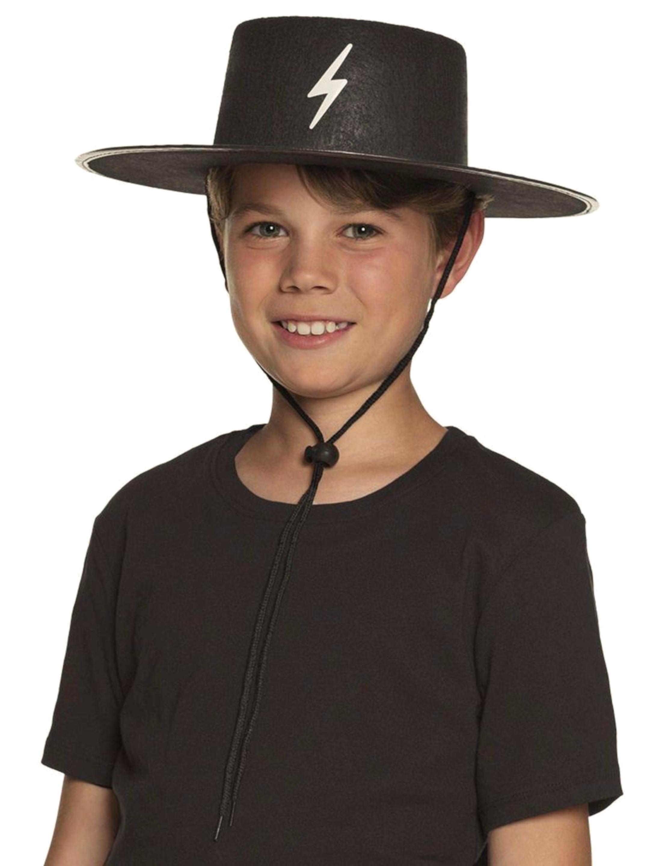 Kostuemzubehor Hut Bandit Kinder Farbe: schwarz