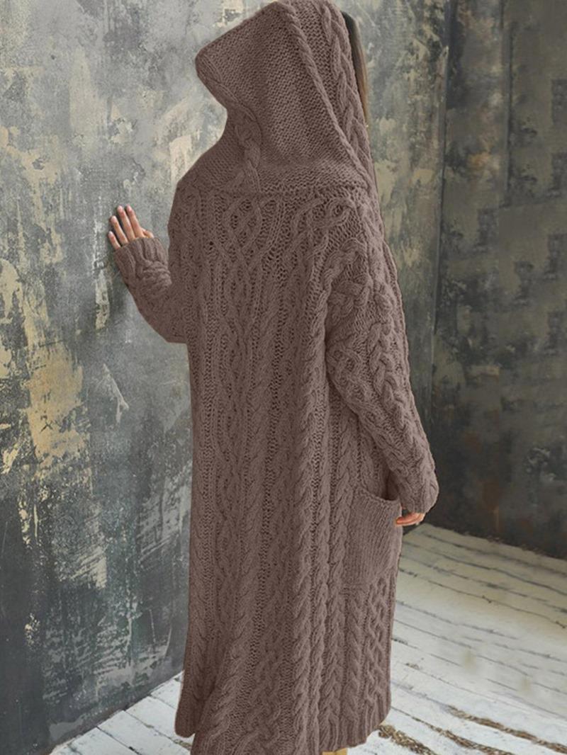 Ericdress Patchwork Raglan Sleeve Thick Long Sleeve Winter Sweater