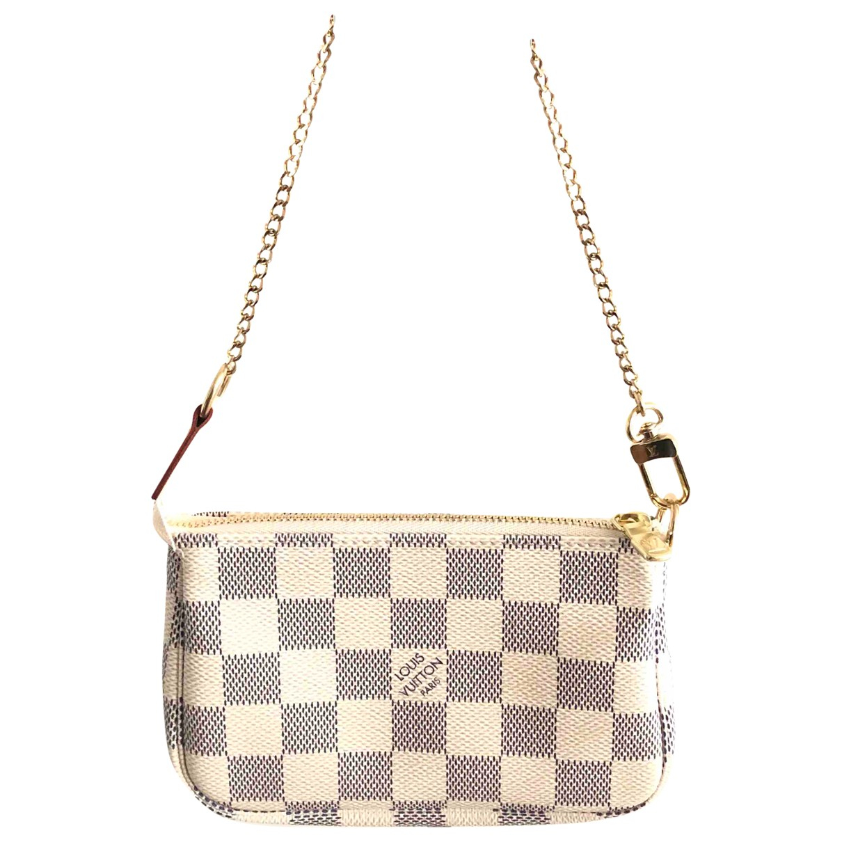 Louis Vuitton Pochette Accessoire Beige Cloth Clutch bag for Women \N