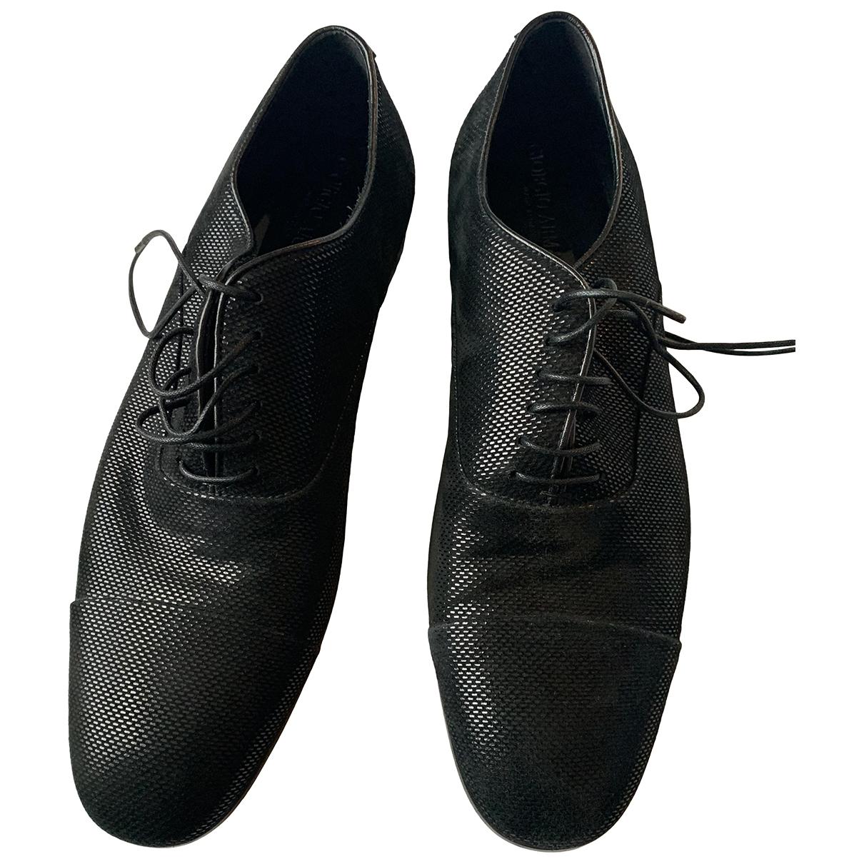 Giorgio Armani \N Black Leather Lace ups for Men 9 US