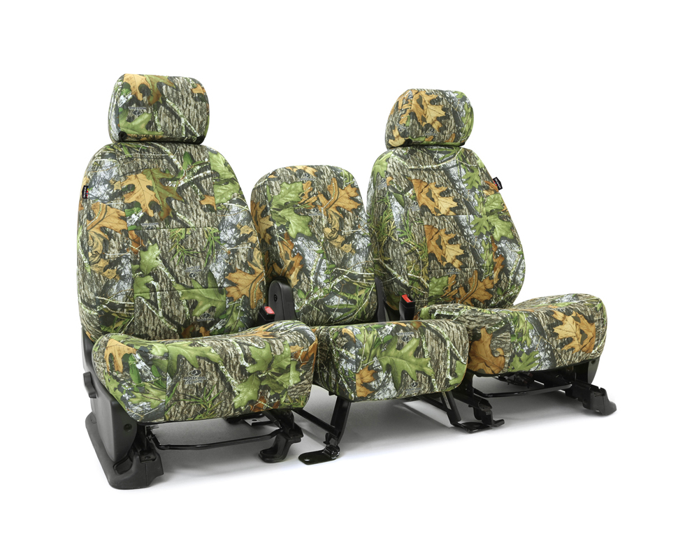 Coverking CSCMO04FD7653 Skanda Custom Seat Covers 1 Row Neosupreme Mossy Oak Obsession Solid Front Ford F-250 | F-350 Super Duty 2005-2007