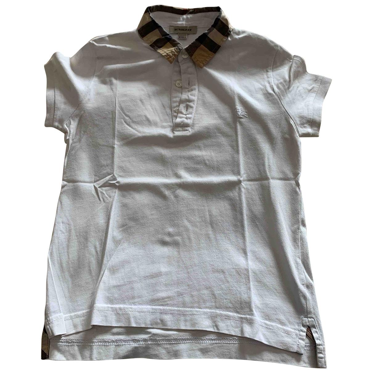 Camisetas en Algodon Blanco Burberry