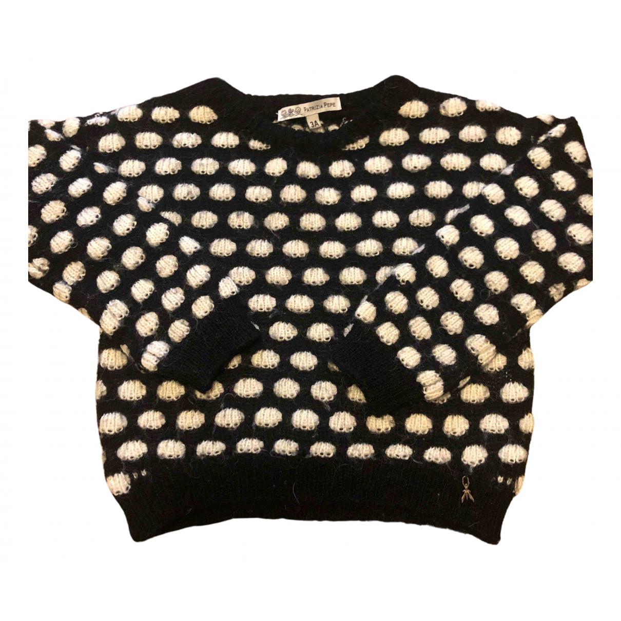 Patrizia Pepe - Pull   pour enfant en laine - noir
