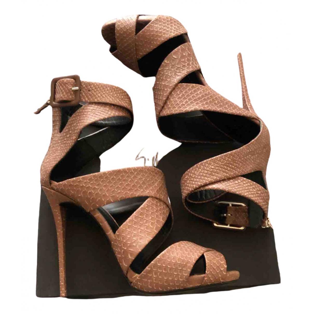 Giuseppe Zanotti \N Brown Leather Sandals for Women 40 EU