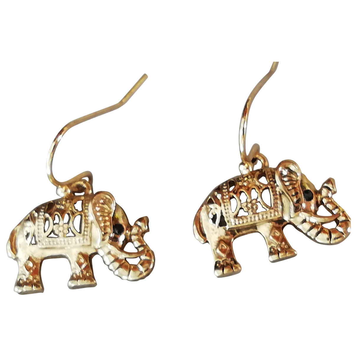 Non Signe / Unsigned Motifs Animaliers OhrRing in  Gold Metall