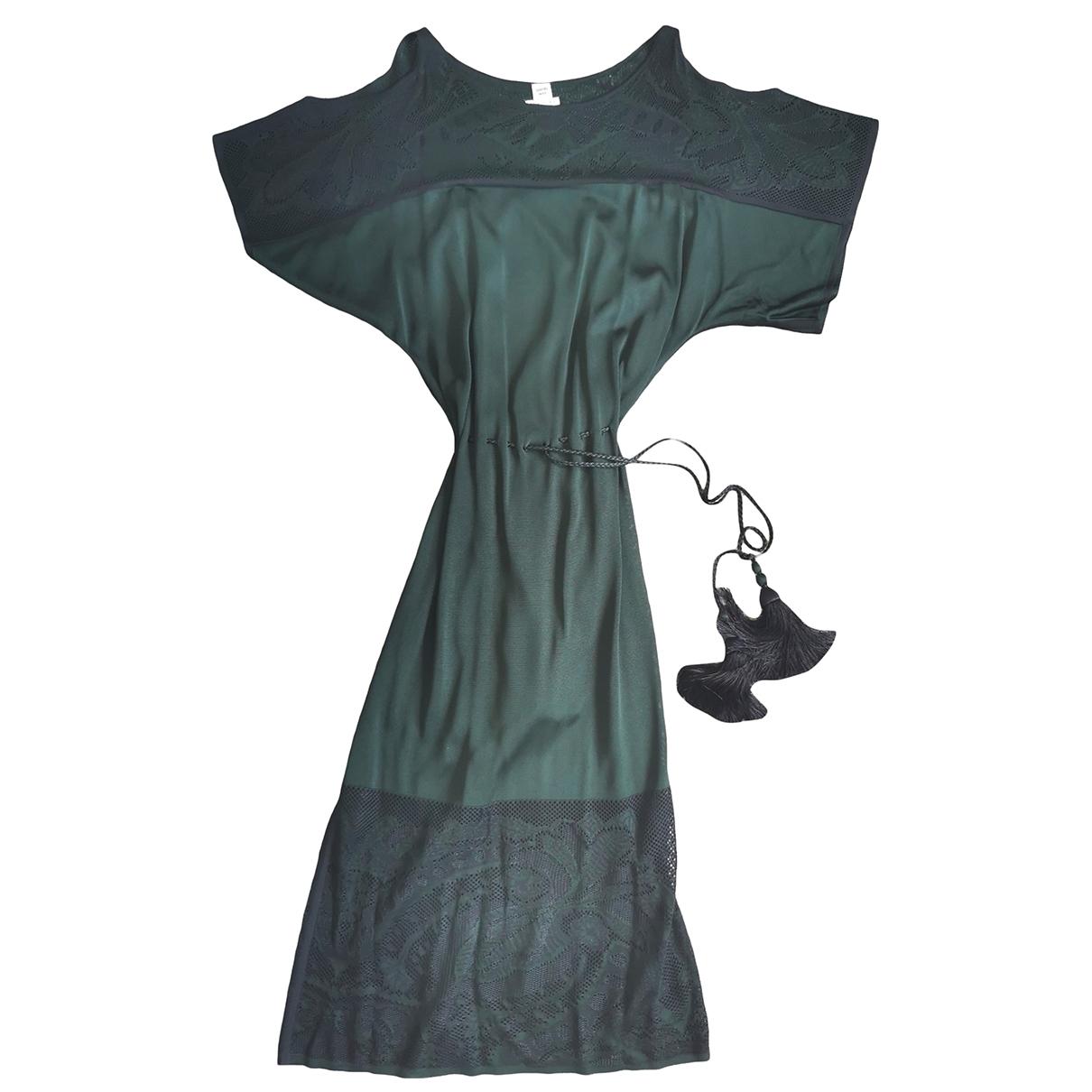 Hermes \N Kleid in  Gruen Viskose