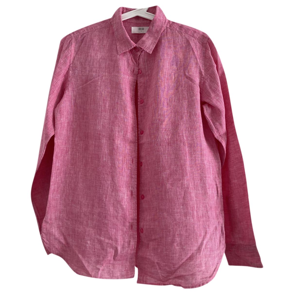 Uniqlo N Pink Linen  top for Women M International
