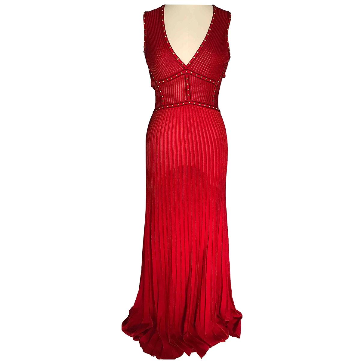 Roberto Cavalli \N Kleid in  Rot Wolle