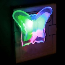 1pc Colorful Heart & Butterfly Shaped Night Light