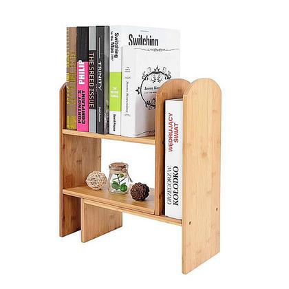 Desktop Telescopic Bookshelf, corner storage, cosmetic shelf, Bamboo