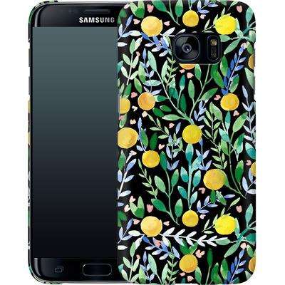 Samsung Galaxy S7 Edge Smartphone Huelle - Bright Blossoms von Iisa Monttinen