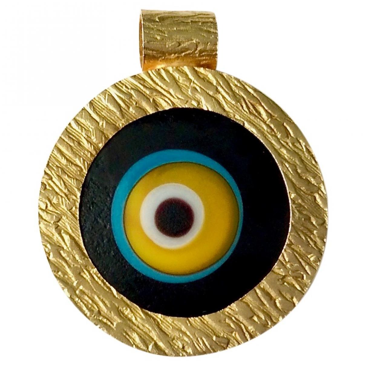 - Pendentif Motifs Religieux pour femme en or jaune - dore
