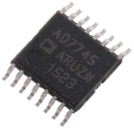 Analog Devices AD7745ARUZ, Capacitance to Digital Converter, 24 bit- 16-Pin TSSOP
