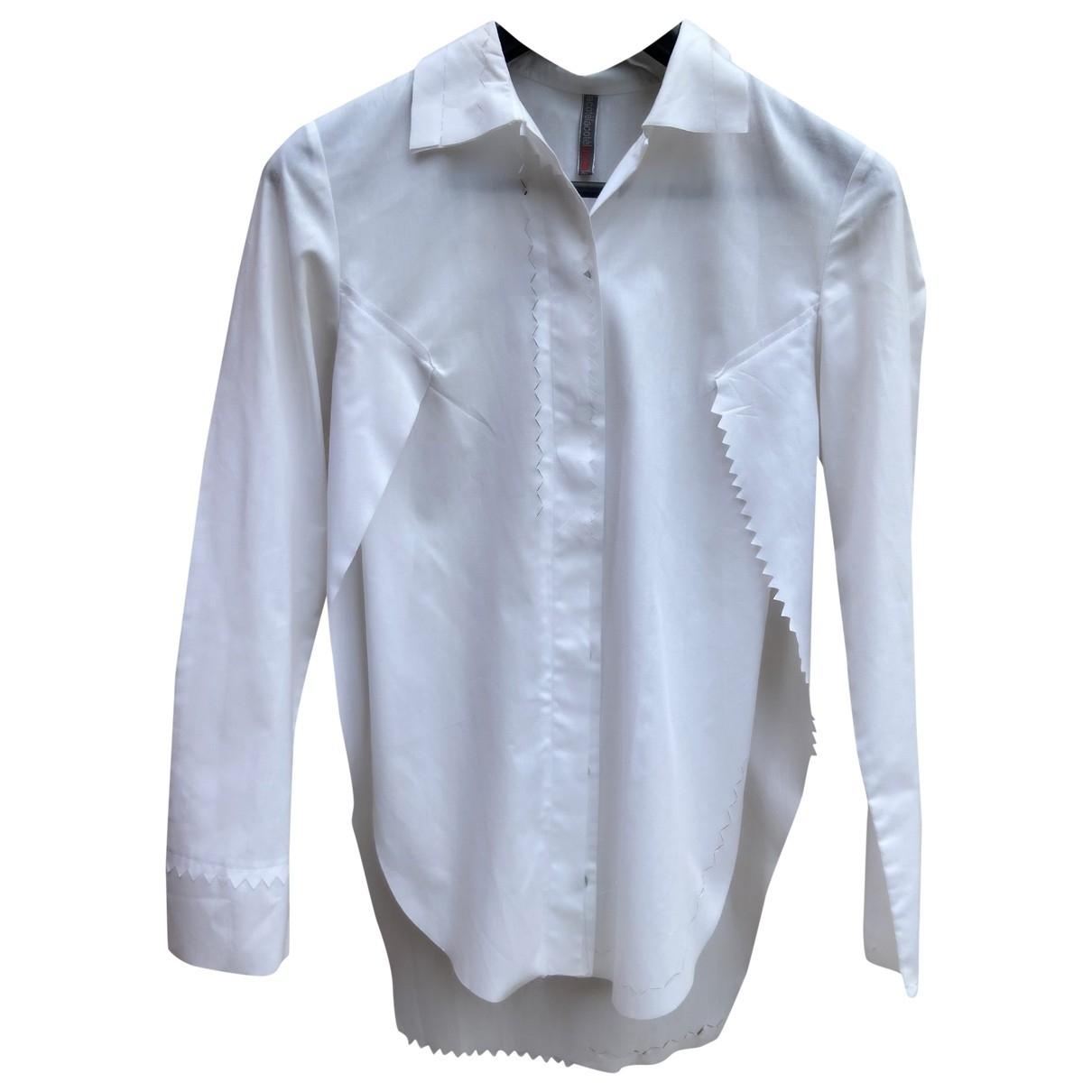 - Top Oversize pour femme en coton - blanc