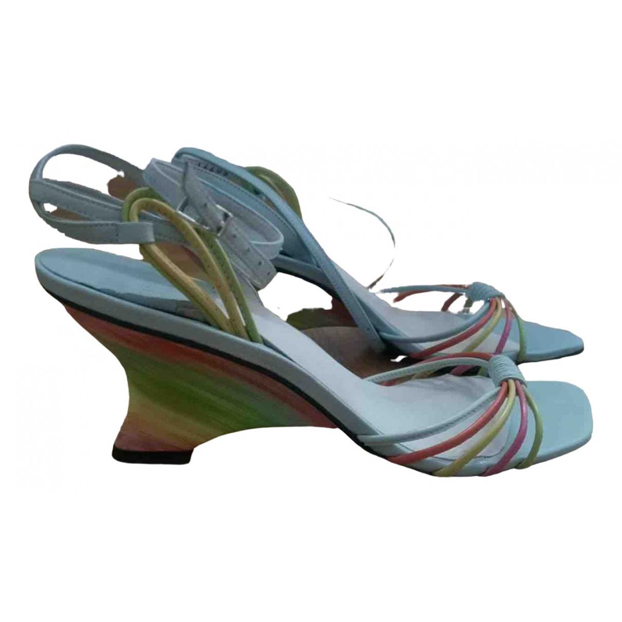 Stuart Weitzman \N Blue Leather Sandals for Women 36.5 EU