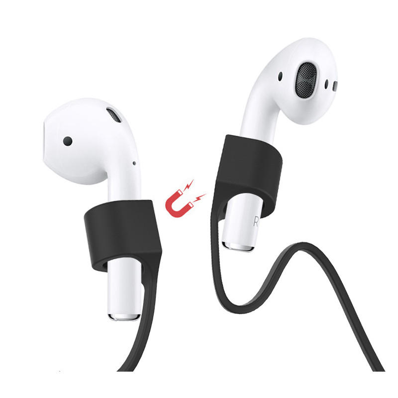 Bakeey Earphone Accessories Anti-Lost Headphone Strap Silicone Magnetic Data Cable Cord String Rope For Apple Earphones