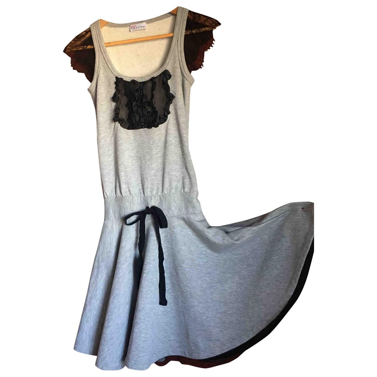 Red Valentino Garavani - Robe   pour femme en coton - gris