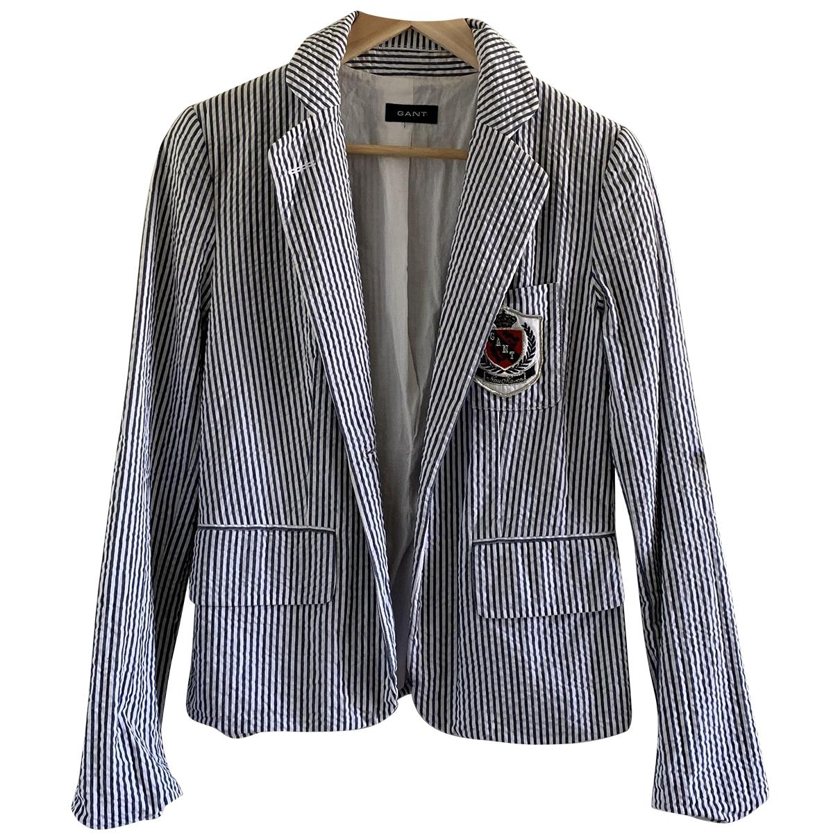 Gant Rugger - Veste   pour femme en coton - blanc