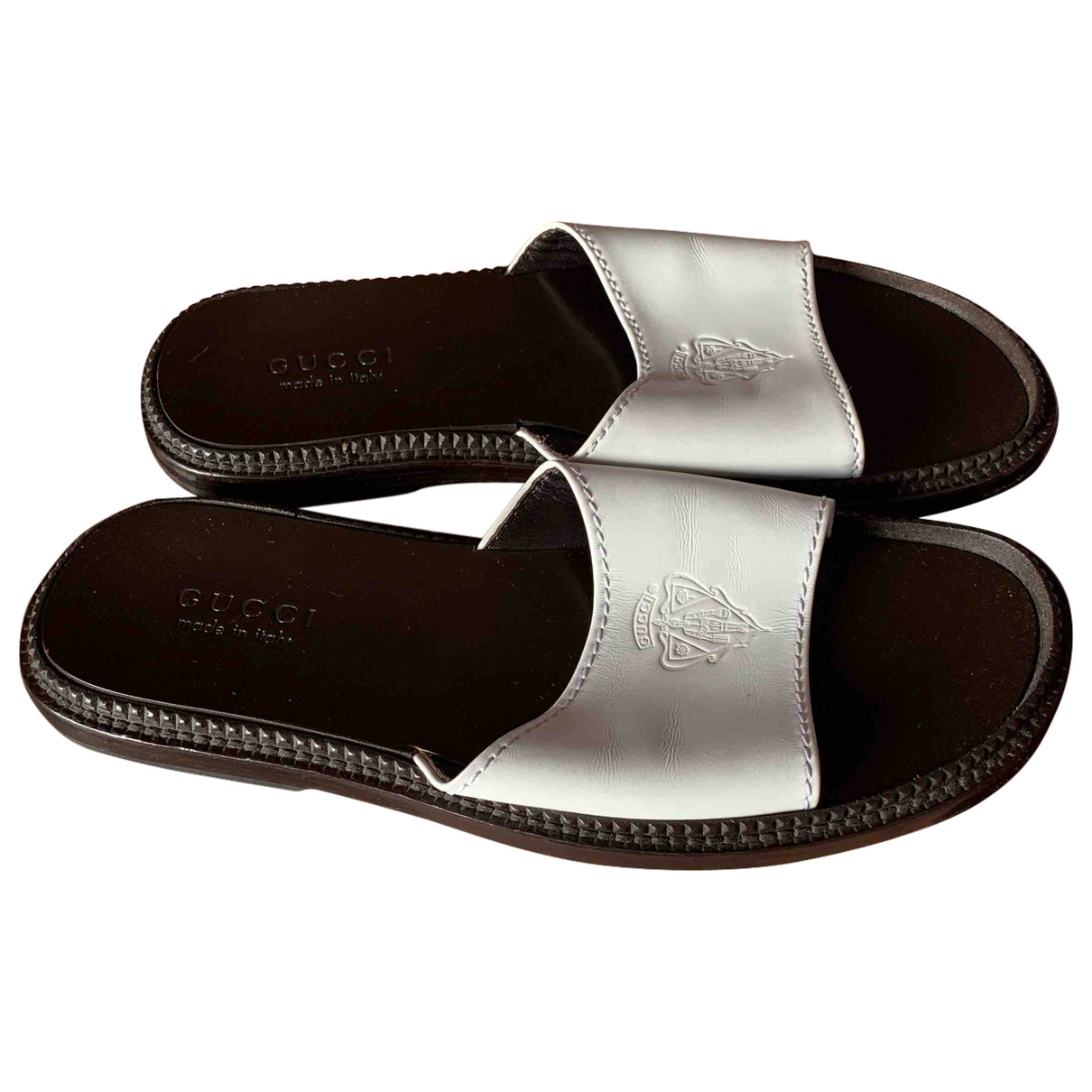 Gucci \N White Leather Sandals for Men 42.5 EU