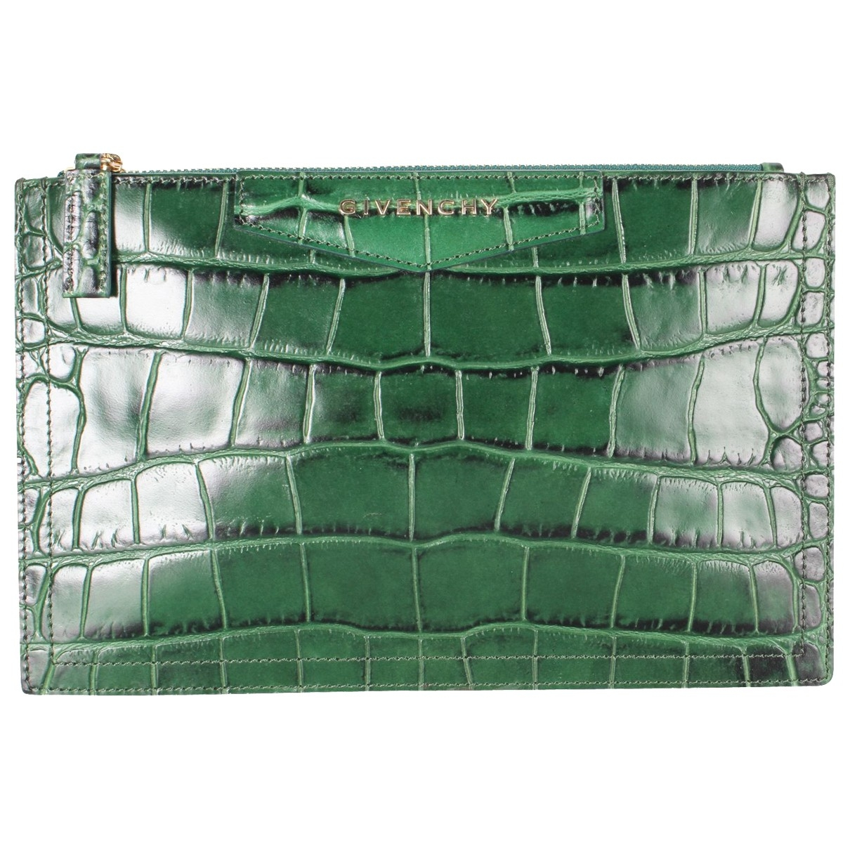 Givenchy \N Green Leather Clutch bag for Women \N