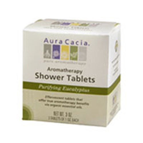 Shower Tablets Eucalyptus, 3 Tablets by Aura Cacia