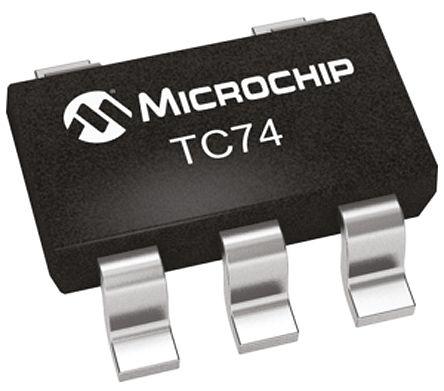 Microchip TC74A2-3.3VCTTR, Temperature Sensor -40 → +125 °C ±3°C Serial-I2C, SMBus, 5-Pin SOT-23 (10)