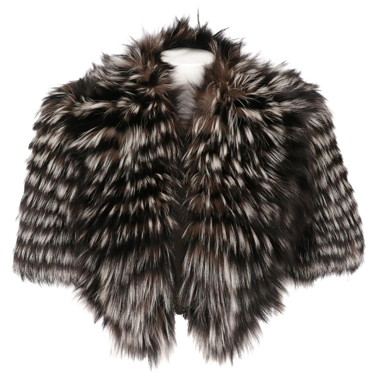 Gianfranco Ferré \N Black Fox scarf for Women \N