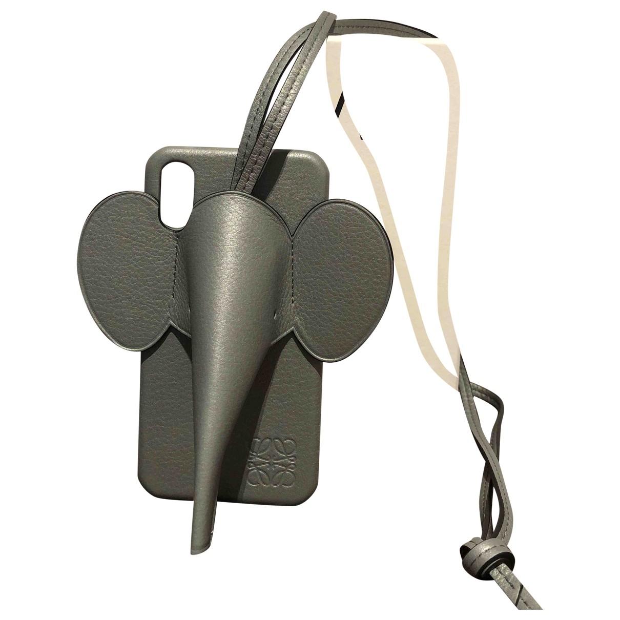 Loewe - Bijoux de portable   pour femme en cuir - gris