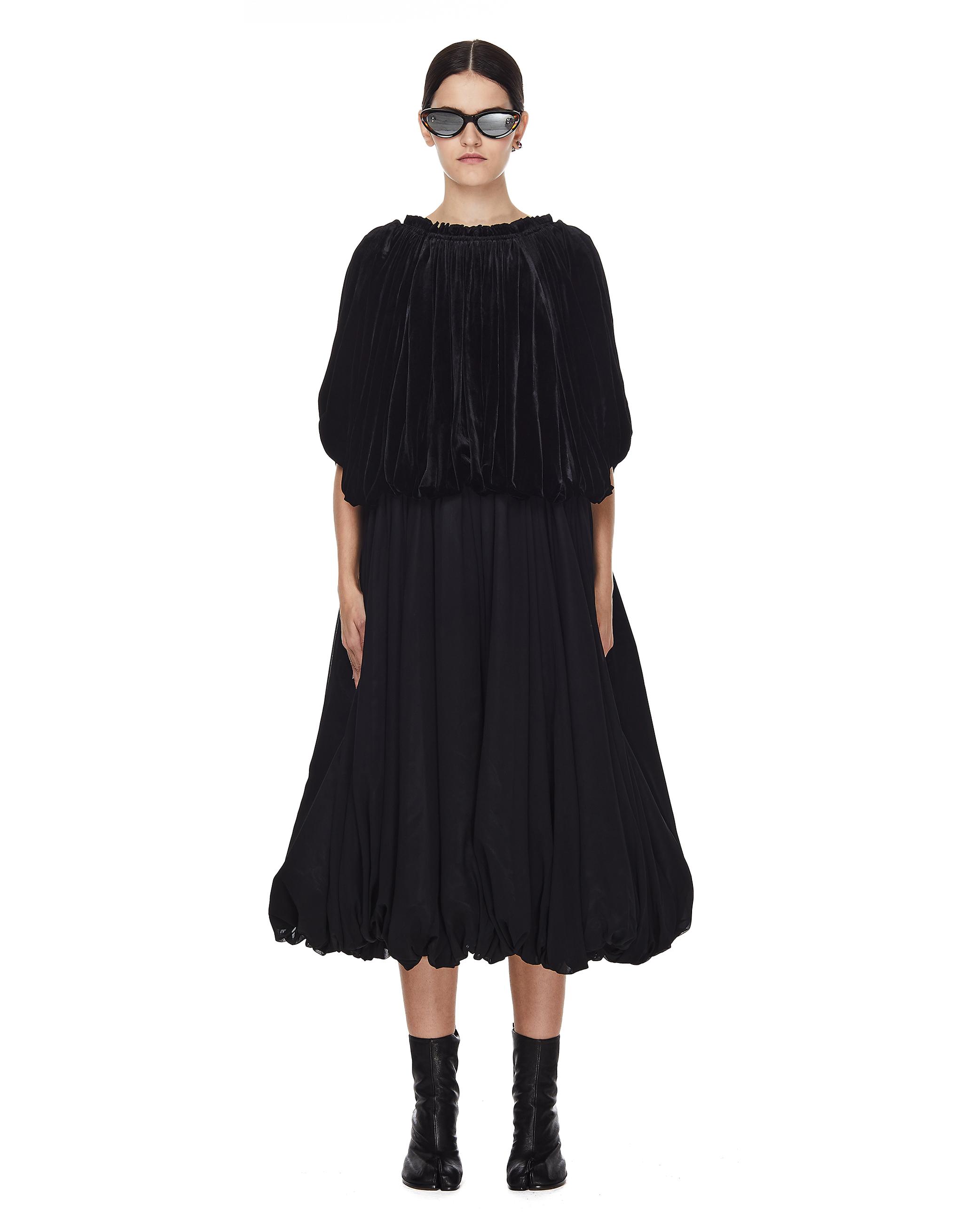 Comme des Garcons Black Pleated Dress