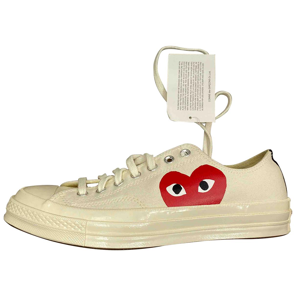 Play Comme Des Garcons \N Sneakers in  Beige Leinen