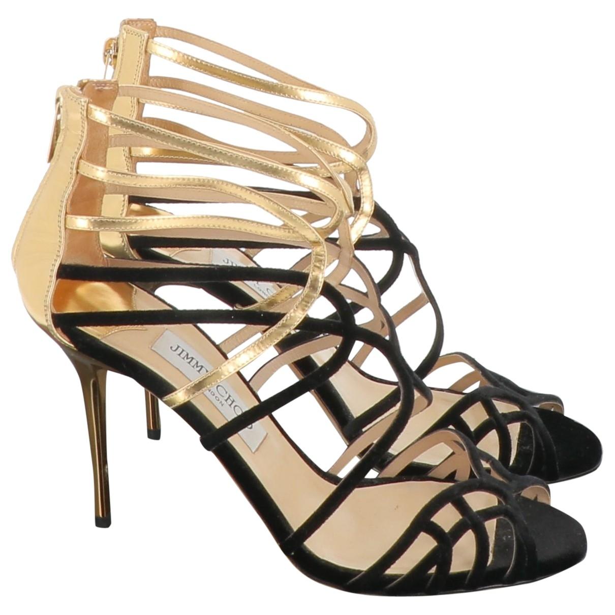 Jimmy Choo \N Black Suede Sandals for Women 39.5 EU