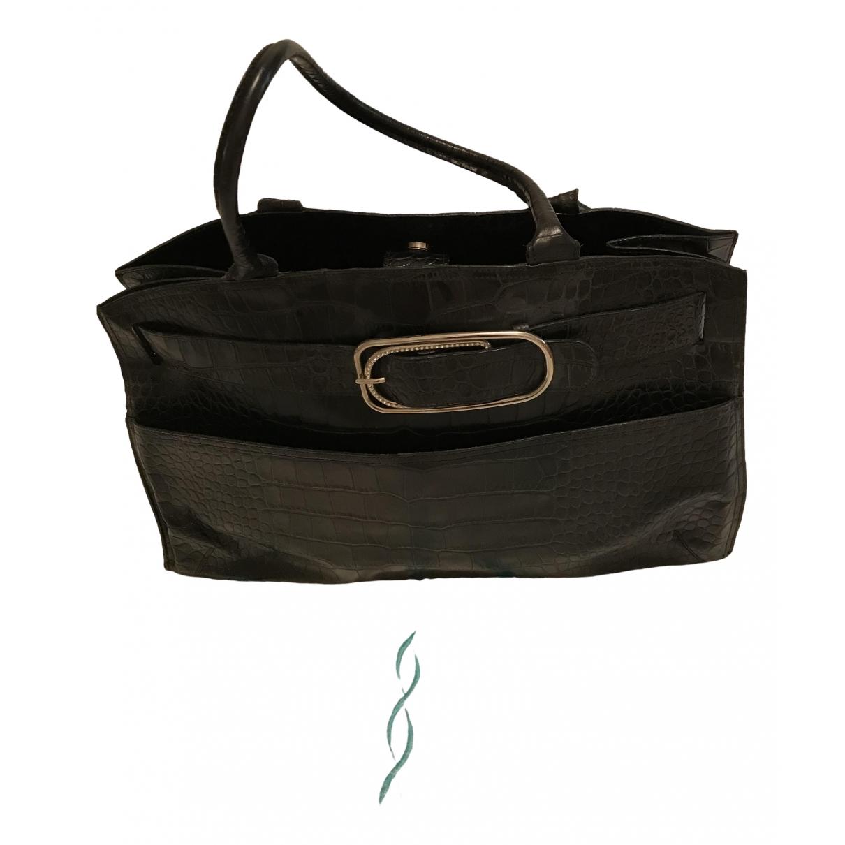 Furla \N Black Leather handbag for Women \N